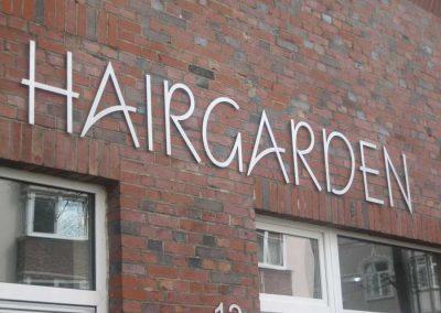 Aluminiumbuchstaben Hairgarden