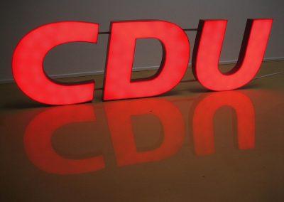 CDU Lichtwerbung