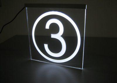 Kassenampel aus Acrylglas