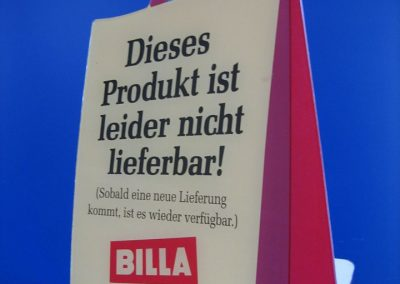 Platzhalter Display Billa Märkte Österreich