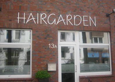 Aussenwerbung Haarsalon