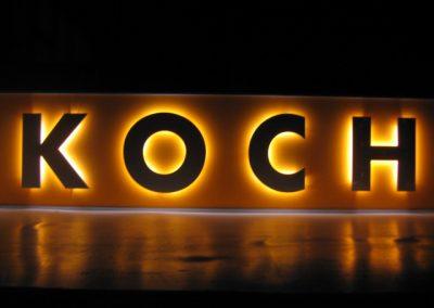 Buchstaben Beleuchtung Koch