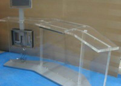 Infostand Tierarzt Messe mit integiertem Ultraschallgerät