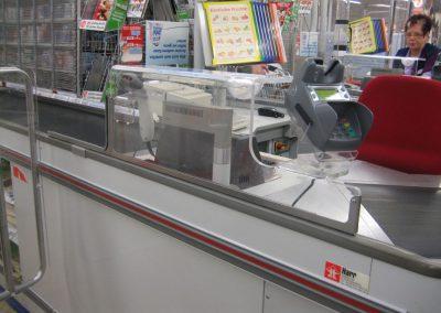Kassenschutz mit integriertem PIN-PAD Halter