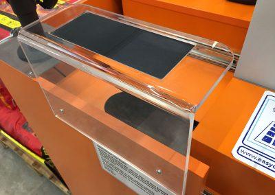 Kassenwinkel mit Schreibpad Obi Baumarkt