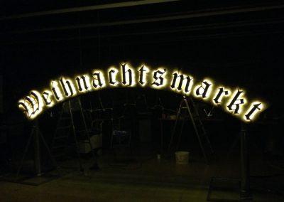 Leuchbuchstaben Weihnachtsmarkt Hannover