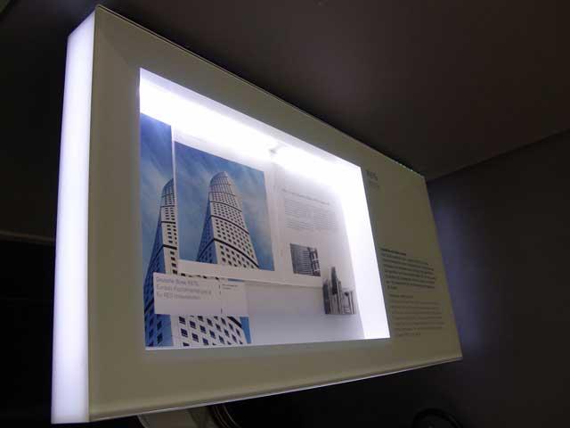Leuchtkästen – Deutsche Börse Frankfurt