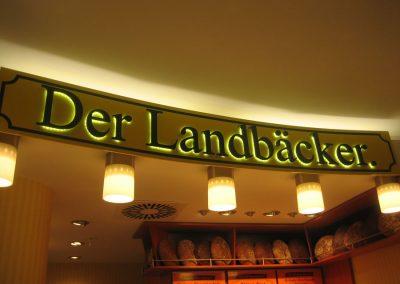 Leuchtbuchstaben für Bäckerei Der Landbäcker